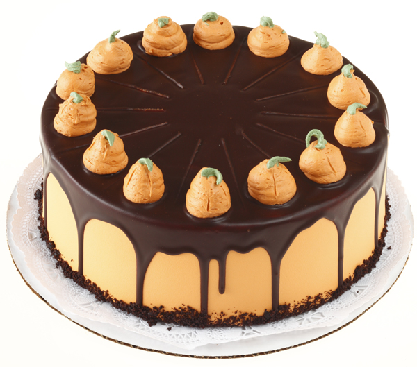 Chocolate pumpkin chiffon cake